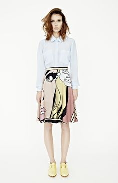 calliope, pop art skirt in holly print by karla spetic of australia (autum/winter '12) (HT trendland.com)