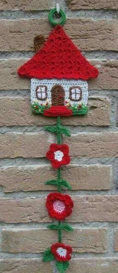 Free Honeymoon Cottage Potholder: Easy Crochet Pattern for a Pot Holder See more at: www. Crochet Potholders, Crochet Motifs, Easy Crochet Patterns, Stitch Patterns, Crochet Simple, Cute Crochet, Crochet Home, Crochet Gifts, Crochet Mignon