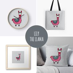DIY Lily the Llama gifts & products to match our printables and invitations