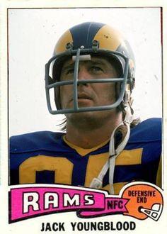 Jack Youngblood Los Angeles Rams Nfl Football Players, Sport Football, Football Cards, Football Helmets, Football Season Starts, Nfl Rams, Olympic Sports, Sports Figures, Vintage Football
