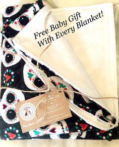 Baby Blanket Gift Set - Cute Baby Blanket - Snuggle Baby Blanket - Gender Neutral Baby Blanket - Crib Size Blanket - Baby Blanket -Receiving