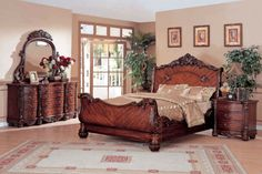 Traditional Furniture Styles | Stingray Traditional Bedroom Collection
