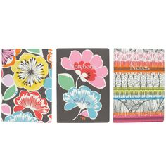 flower burst java A5 exercise book pack of 3 from Paperchase