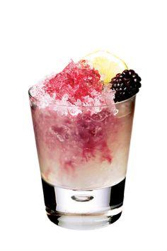 GIN - 'BRAMBLE' - 2oz gin, 1oz lemon juice, 1/2oz sugar syrup, 1/2oz creme de cassis.