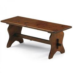 MEDA, panca in legno di pino disponibile in quattro diverse misure e nei colori noce, naturale, cerato, miele, wengè, anilina verde, azzurro e bianco.