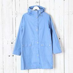 ILSE JACOBSEN Patch Pocket Rubberised Rain Coat