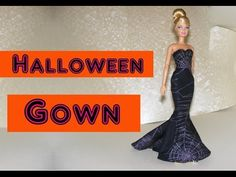 How to make Halloween Gown for Dolls Tutorial DIY