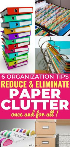 How to get rid of and deal with paper clutter? Eliminate and organize paper clutter with these DIY paper clutter organization tips and solutions! Effective organization filing system and hacks for office, kitchen, school and life in general! Organisation Hacks, Home File Organization, School Office Organization, Organizing Paperwork, Clutter Organization, Organizing Ideas, Organizing Paper Clutter, Organization Station, Organizing Life