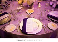 Place setting for a Grand Ballroom Reception at Hilton Lexington Downtown