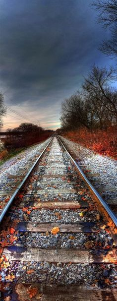 Why are railroad tracks so inviting? It must be b/c they invite you to go somewhere...anywhere.