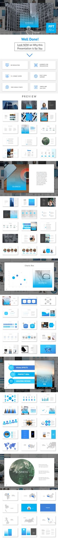 Business Theme  Cascada  Presentation Templates