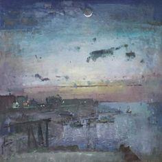 British Artist Fred CUMING-Crescent Moon, Rye Harbour
