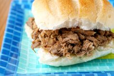 North Carolina Style Pulled Pork made in the crock pot. No bun for me!
