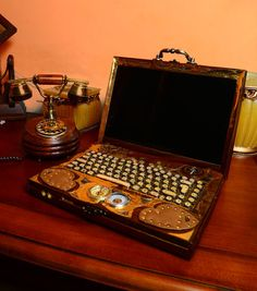 The Steampunk Laptop by ~Zackary