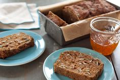 For a special treat or quick breakfast snack, toast slices of this fragrant quick bread and spread with apple butter or Neufchâtel cheese.