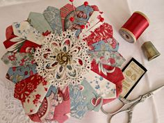 Curry Bungalow: Search results for Dresden pincushion Dresden Plate Patterns, Dresden Plate Quilts, Quilt Patterns, Patch Quilt, Quilt Blocks, Applique Quilts, Quilting Projects, Sewing Projects, Sewing Kits
