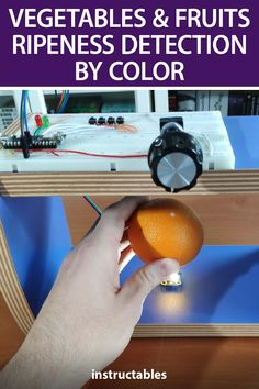 Kutluhan Aktar's device uses a TensorFlow to determine the ripeness of vegetables and fruits based on the color. #Instructables #electronics #technology #Arduino #RaspberryPi Useful Arduino Projects, Technology, Electronics, Vegetables, Fruit, Color, Tech, Colour, Tecnologia