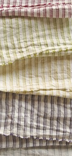 striped fabric yellow green red white