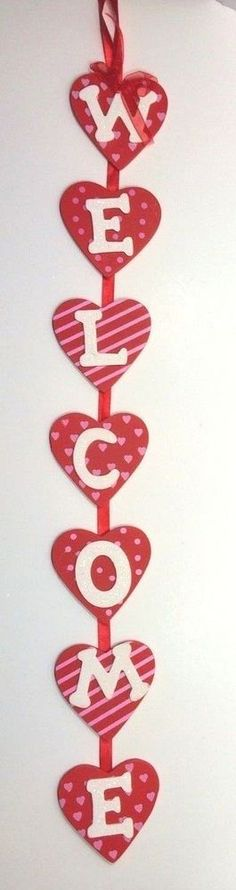 2 ft #Valentines Day Welcome #Sign #Wreaths, #Decorations #Hearts #gma #drphil #droz #generalhosipital #ellen