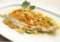 Rodaballo con verduras en papillote - MisThermorecetas.com