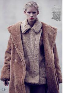 The Maxi Coat UK Elle october 2013 model: Ilse de Boer photographer: Bruno Staub stylist: Anne-Marie Curtis hair: Danilo make-up: Eric Polito manicure: Roseann Singleton