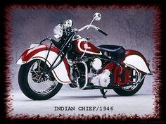 Fonds d'écran Motos Indian Motorcycles Indian Chief 1946
