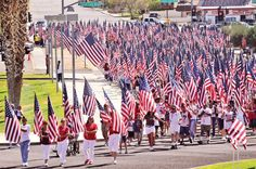 Flag Day Parade in Ridgecrest, Northern CA