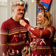 Official Street Fighter Ken Vs. Ryu Christmas Jumper / Ugly Sweater | Free UK Delivery | Yellow Bulldog