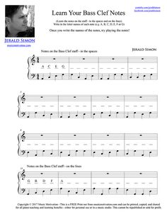 Learn Your Bass Clef Notes by Jerald Simon - Music Motivation