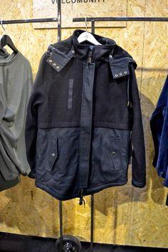 Contrast fabric jacket