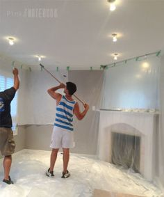 Removing Popcorn Ceiling Overhead Lighting Home Ing