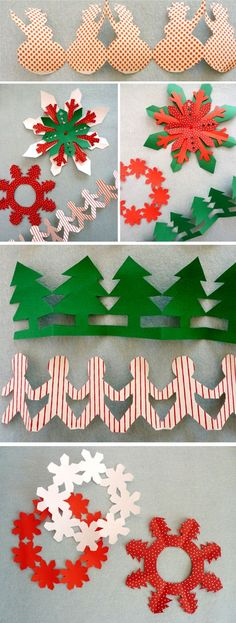 23 New Ideas For Diy Paper Crafts Christmas Fun Paper Christmas Decorations, Christmas Paper Crafts, Noel Christmas, Christmas Activities, Christmas Projects, Holiday Crafts, Christmas Ornaments, Theme Noel, Kirigami