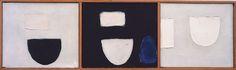 William Scott, Triptych, 1964, Oil on canvas, Left panel: 31.2 × 36.4 cm / 12¼ × 14¼ in, Middle panel: 31.4 × 36.2 cm / 12¼ × 14¼ in, Right panel: 31.4 × 36.7 cm / 12¼ × 14½ in, Whereabouts unknown