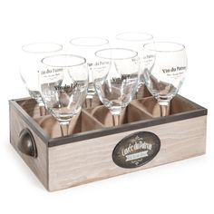 Kiste CUVEE DU PATRON mit 6 Gläsern