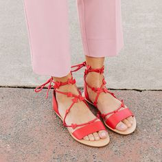 Favorite Step (I'm loving the little heart details on these lace-up sandals…)