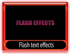 Flash text effects template