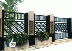 Harga Pagar Besi Terbaru Januari 2019 Ukuran Per Meter - Murah Terbaik House Fence Design, Modern Fence Design, Front Gate Design, Balcony Railing Design, Door Gate Design, Boundry Wall, Compound Wall Design, Iron Garden Gates, Steel Gate Design