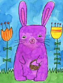 How to Draw an Easter Bunny - free printable template!