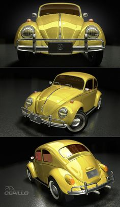 Hi guys, This is my latest model. Its a VW Beetle its modelled and rendered in Lightwave Wire: [link] [link] [link] [link] [link] [link] [link] VW Beetle 1956 Cepillo Yellow Car, Mellow Yellow, Vw Bugs, Van Vw, Auto Volkswagen, Most Popular Cars, Vw Vintage, Transporter, Vw Beetles