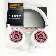 So cool! Beaded Sony Studio Monitor Headphones | Beyond Buckskin Boutique - supports Native artists