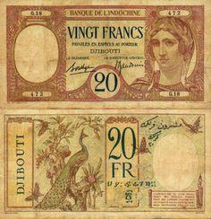Djibouti  20 Francs (1928-)