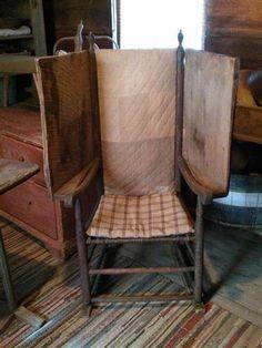 .primitive colonial make-do chair