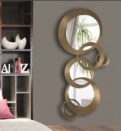 8 Enterprising Cool Tips: Hanging Wall Mirror Floors contemporary wall mirror colour.Hanging Wall Mirror Woods wall mirror with shelf bedrooms. Rustic Wall Mirrors, Cool Mirrors, Round Wall Mirror, Mirror Stairs, Mirror House, Mirror Set, Cooler Spiegel, Spiegel Design, Living Room Mirrors