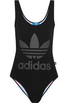 Adidas Originals Rita Ora O-Ray printed stretch bodysuit   THE OUTNET