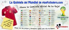 Participa en La Quiniela del Mundial de planFutbolero.com y gana la camiseta de La Roja!!