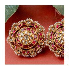 Antique Gold, Antique Jewelry, Jewelry Boards, Small Earrings, Indian Jewelry, Earring Set, Bracelet Watch, Diamond Earrings, Jewelry Design