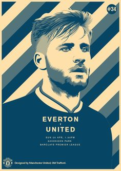 Match poster. Everton vs Manchester United, 26 April 2015. Designed by @manutd