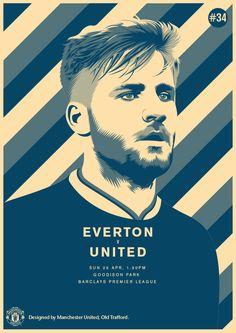 Match poster. Everton vs Manchester United, 26 April 2015. Designed by @manutd
