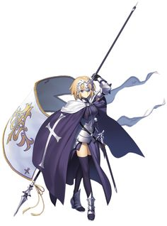 "Transparent render of Ruler from ""Fate/Grand Order"" [fate grand order, jeanne d'arc, anime girls]"
