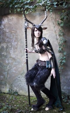 Faun cosplay by ~emilyrosa on deviantART #halloween #costume
